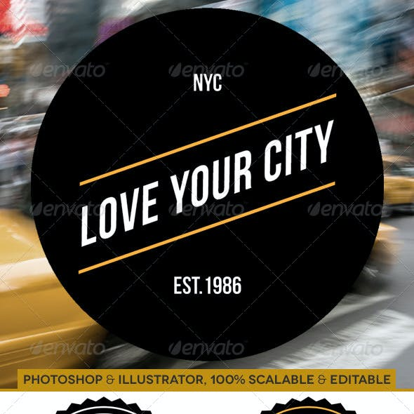 14 Vector Badges - Love Your City