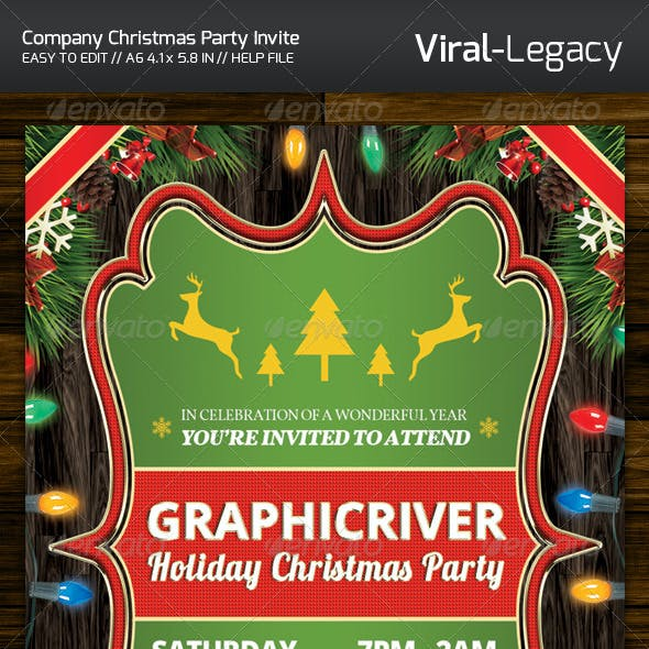 Christmas Company Party Invitation