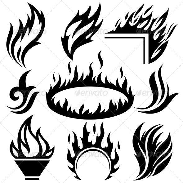 Fire Signs Set