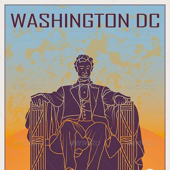 Washington DC Vintage Poster