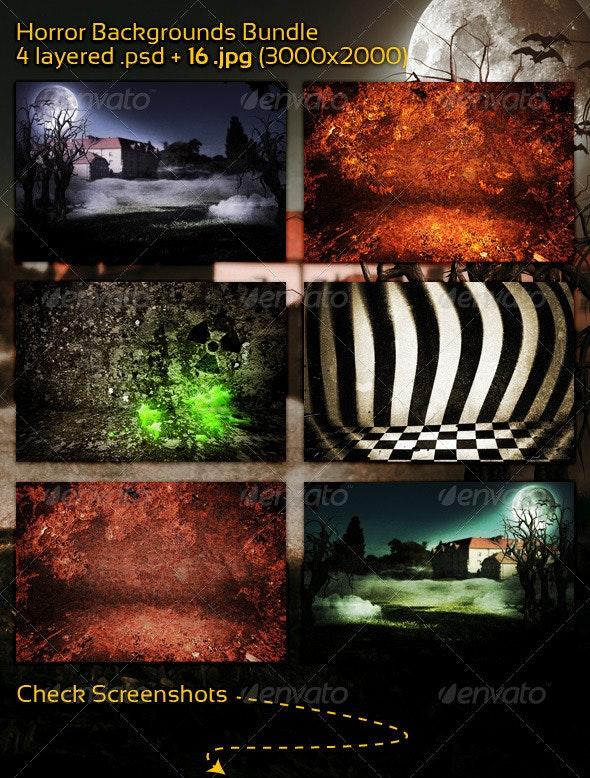 Horror Backgrounds Bundle - 3D Backgrounds