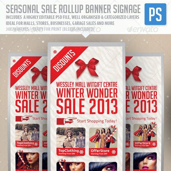 Seasonal Sale Rollup Banner Signage