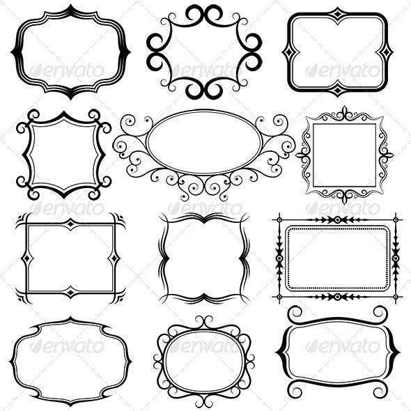 Ornate Vector Frames