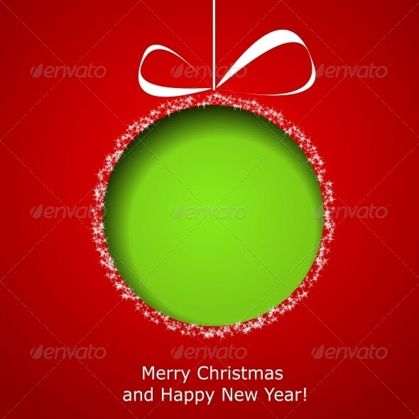 Abstract Green Christmas Ball