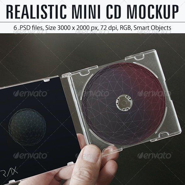 Realistic Mini CD Mockup