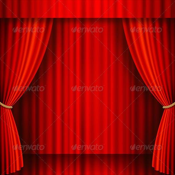 Red Velvet Vector Theater Stage