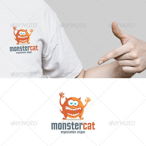 Cat Ghost Logo Template From Graphicriver