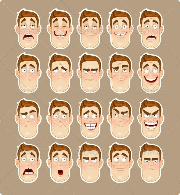 Man Emotions - People Characters