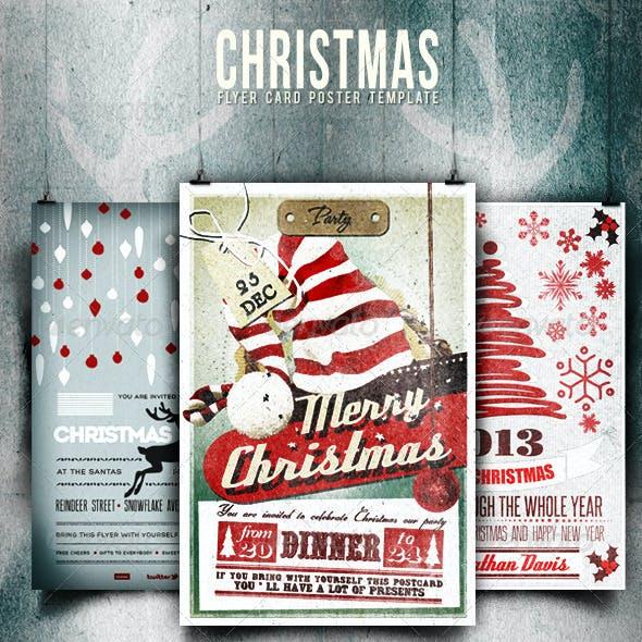 Bundle - Christmas Flyer/Card/Poster Vol. 1-2-4