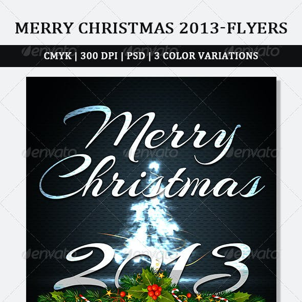 Holiday Christmas Party Flyer V01