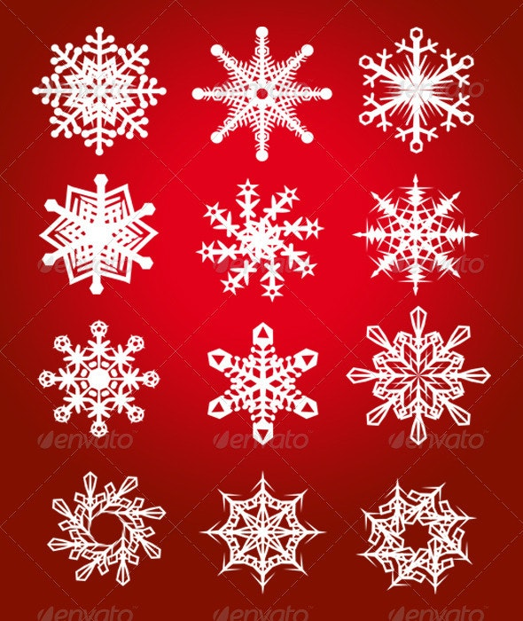 Vector Snowflakes - Christmas Seasons/Holidays