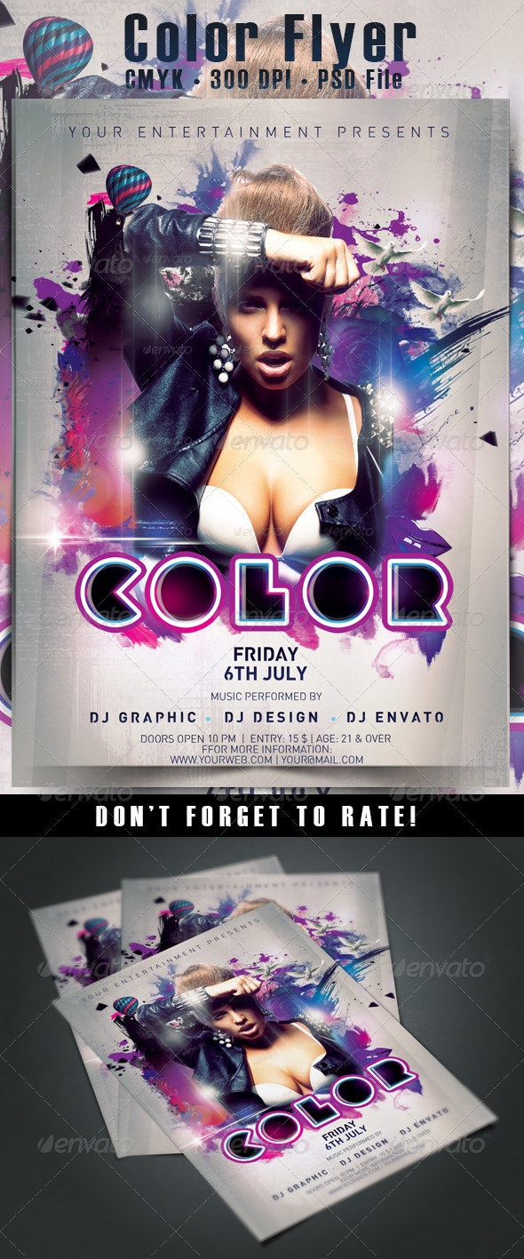 Color Flyer - Events Flyers