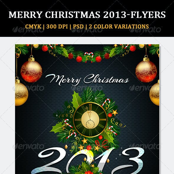 Holiday Christmas Party Flyer V02