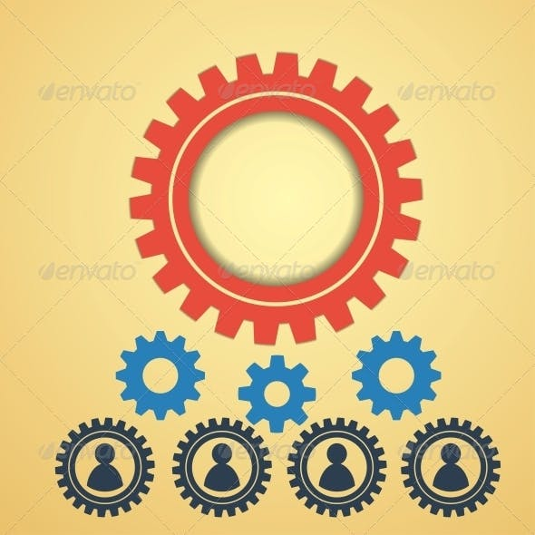 Gears on a Creative Background