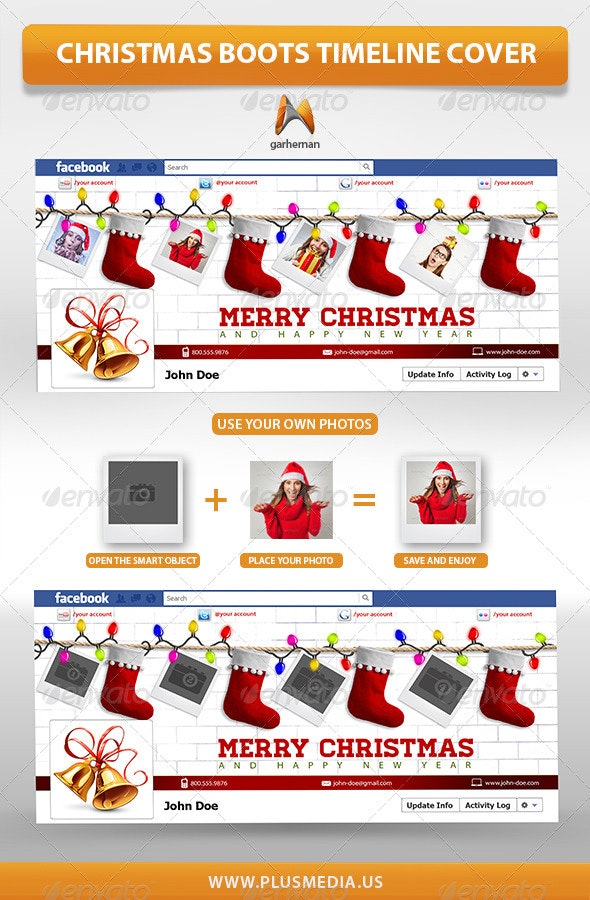 Christmas Boots TimeLine Cover - Facebook Timeline Covers Social Media