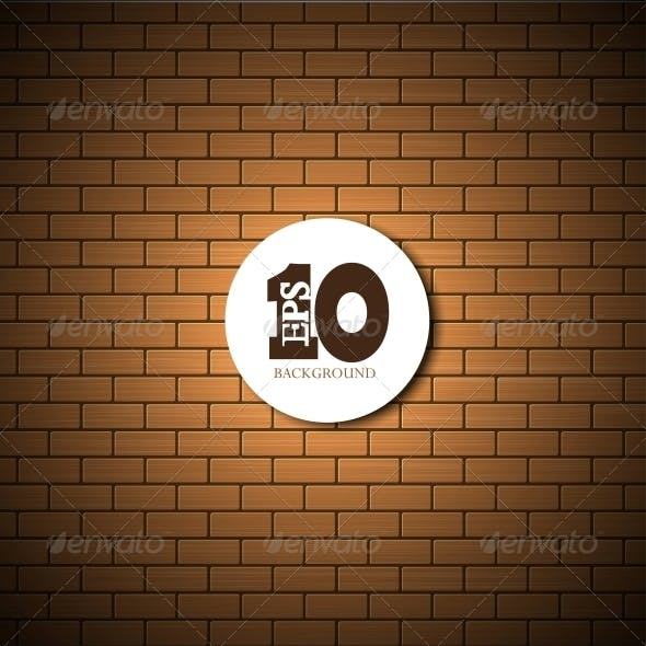Vector Brick Wall Background