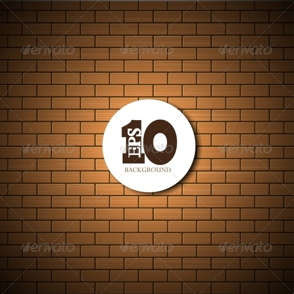 Vector Brick Wall Background  - Backgrounds Decorative