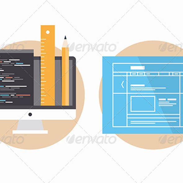 Website Programming and Development Icons
