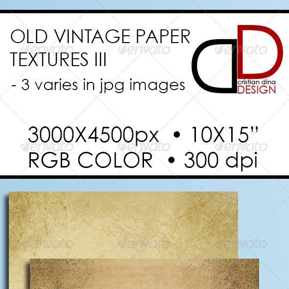 Old Vintage Paper Texture III