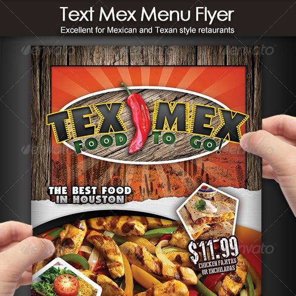 Tex Mex Menu Flyer