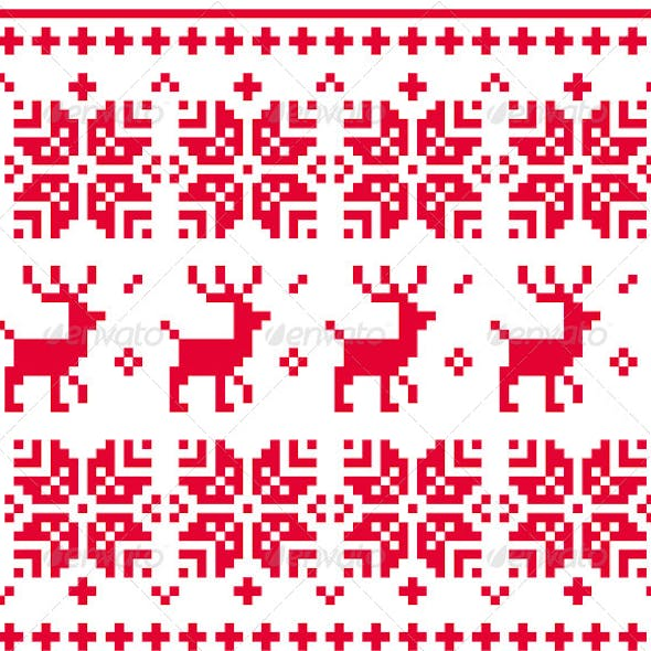 Nordic Seamless Knitted Christmas Pattern