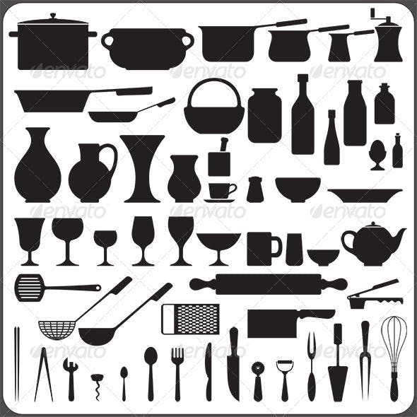 57 Kitchenware Objects