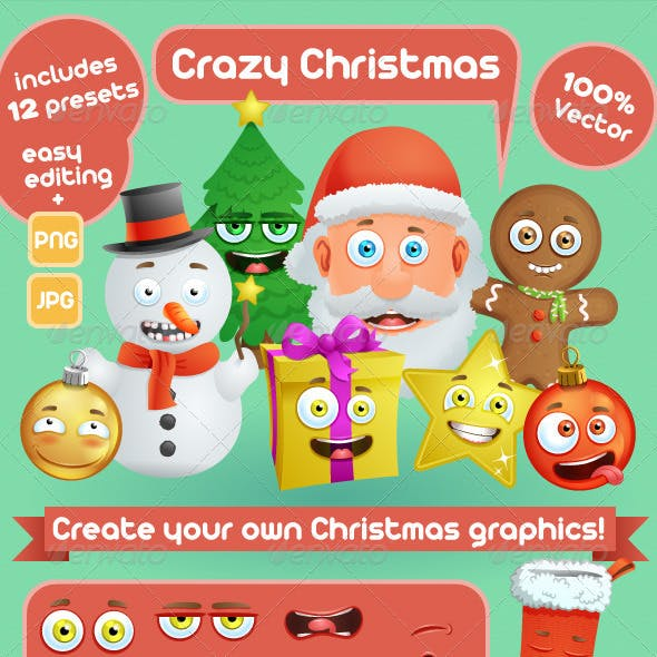 Crazy Christmas Creation Kit