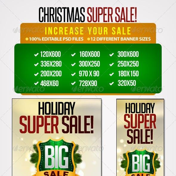 Holiday Banner Set 6 - 12 Sizes