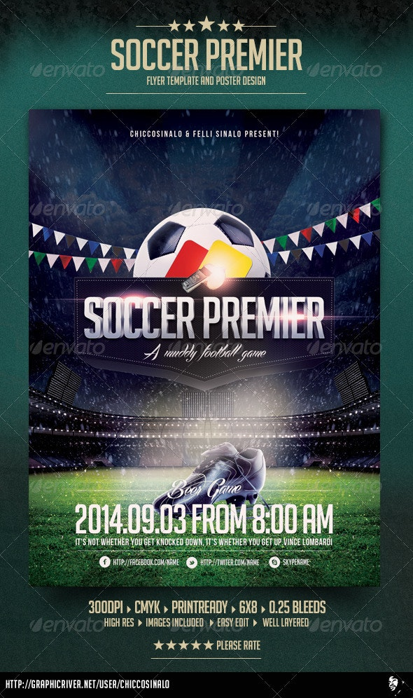 Soccer Premier Flyer Template - Sports Events
