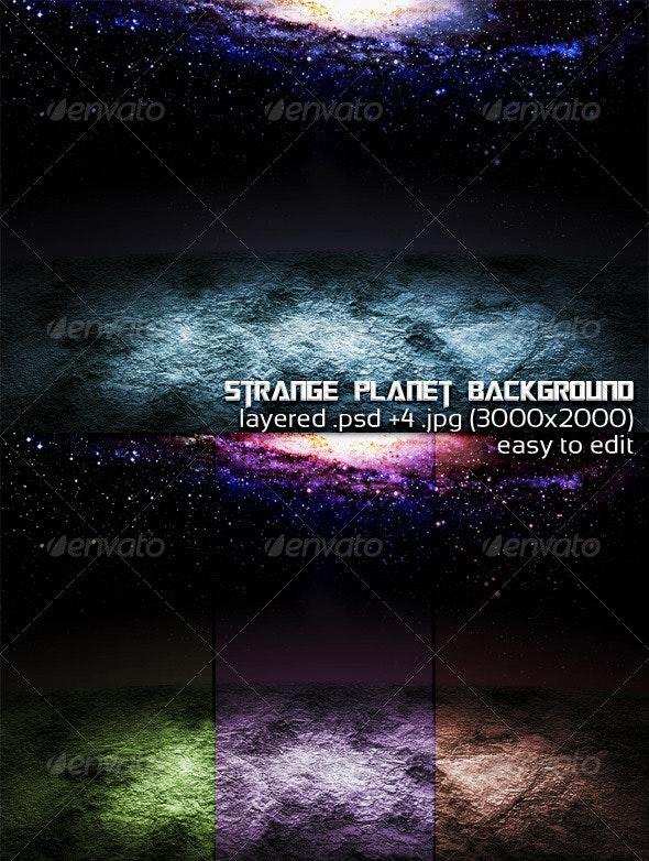 Strange Planet Background - 3D Backgrounds