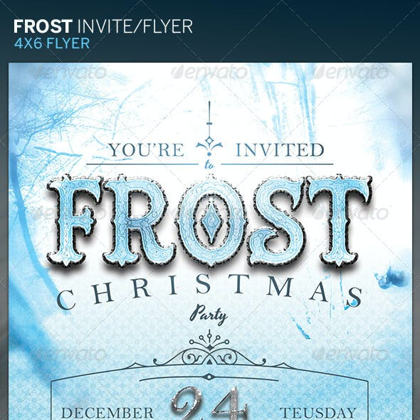Frost Christmas Party Flyer/Invite Template
