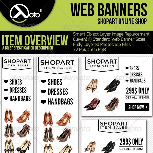 ShopArt Online Shopping Web Banners