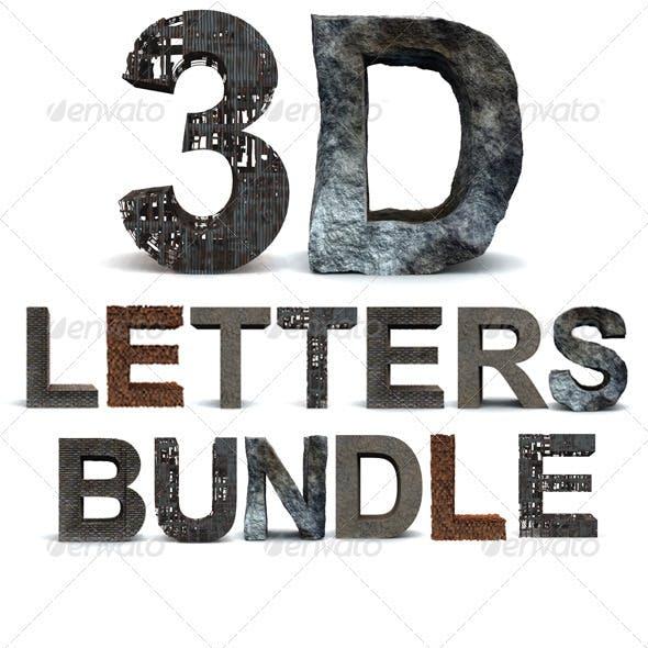 3D Letters Bundle