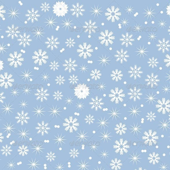 Winter Background of Snowflakes