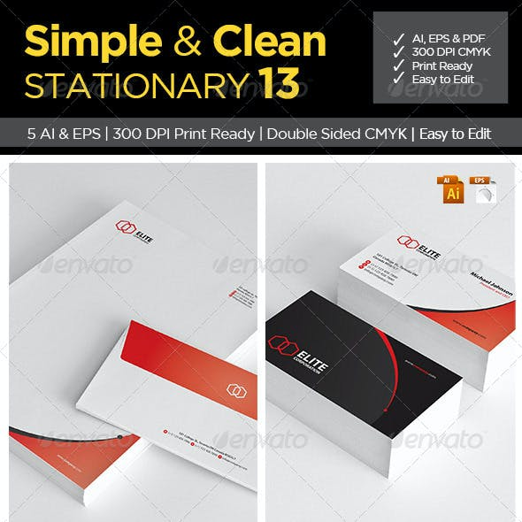 Simple and Clean Stationary 13