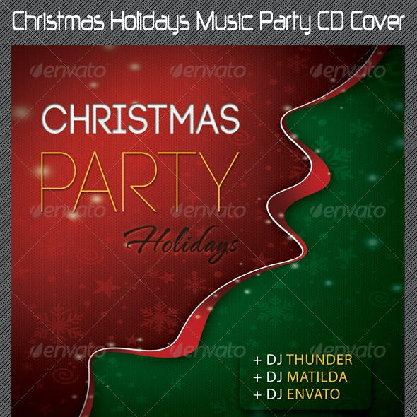 Christmas Holidays Music Party CD Cover