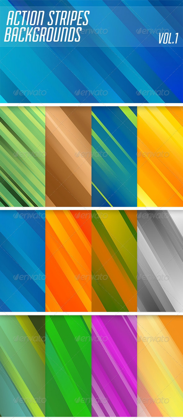 Action Stripes Backgrounds - Abstract Backgrounds