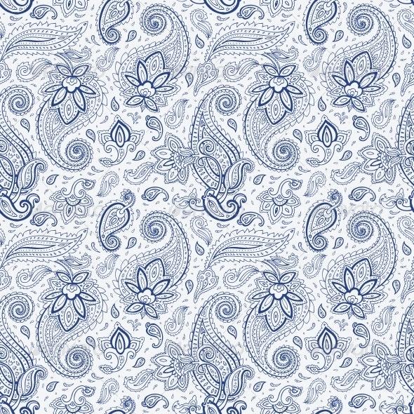 Seamless Paisley Background. by Katyau | GraphicRiver