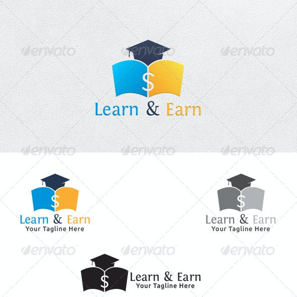 Learn and Earn - Logo Template