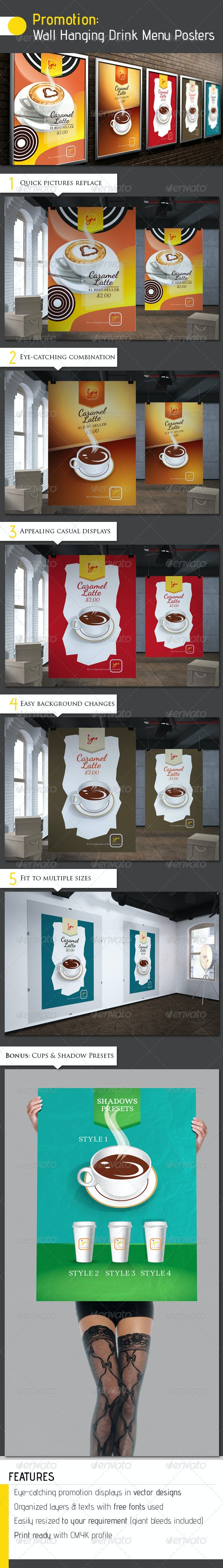 Promotion: Wall Hanging Drink Menu Posters - Restaurant Flyers
