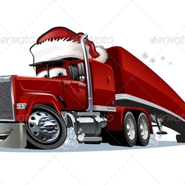 Cartoon Christmas Truck