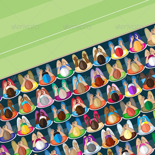 Crowd – overhead view    - People Characters