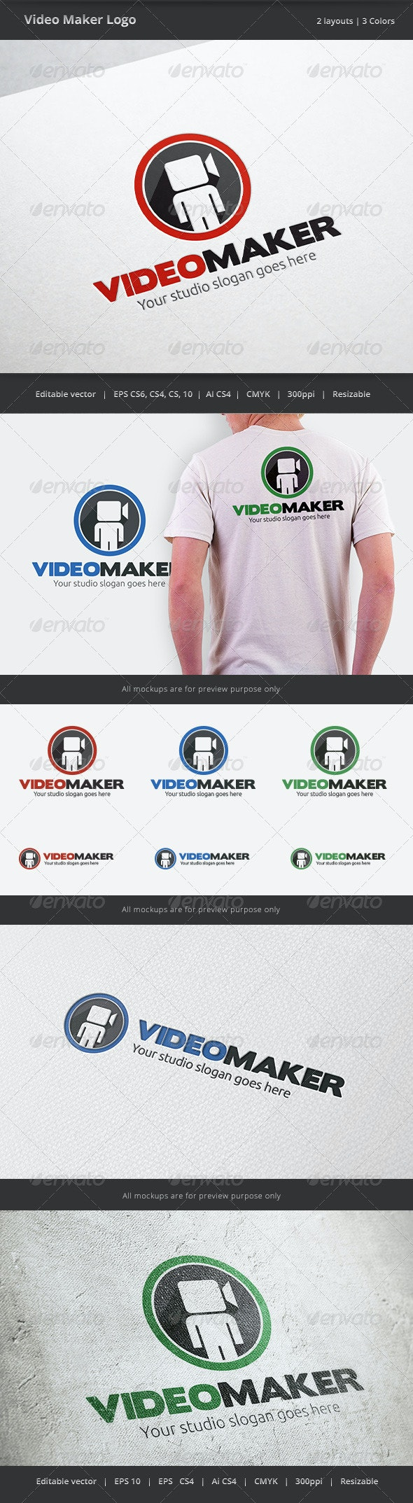 Video Maker Logo - Symbols Logo Templates
