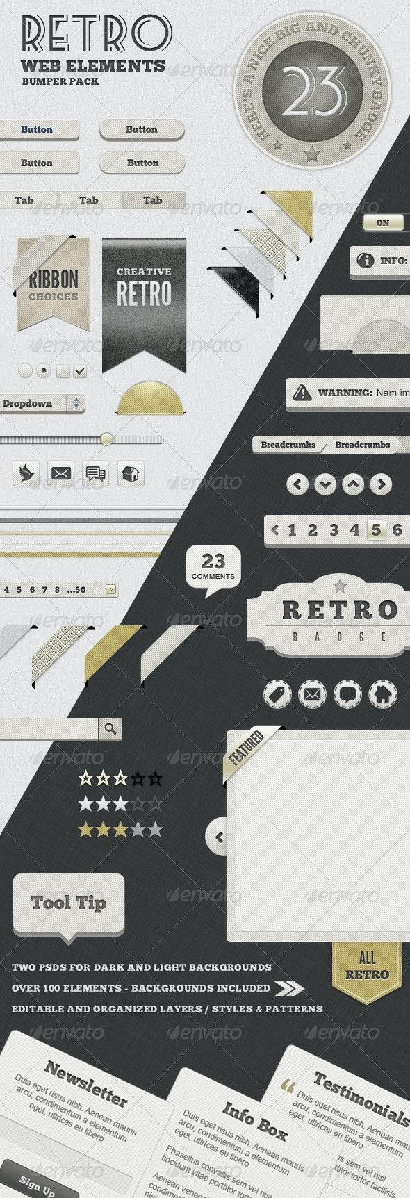 Retro Web Elements - Bumper Pack - Miscellaneous Web Elements