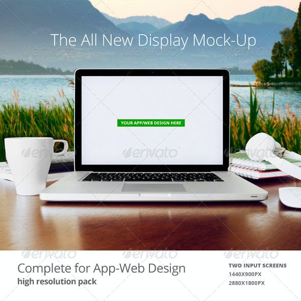Laptop | Web App Mock-Up