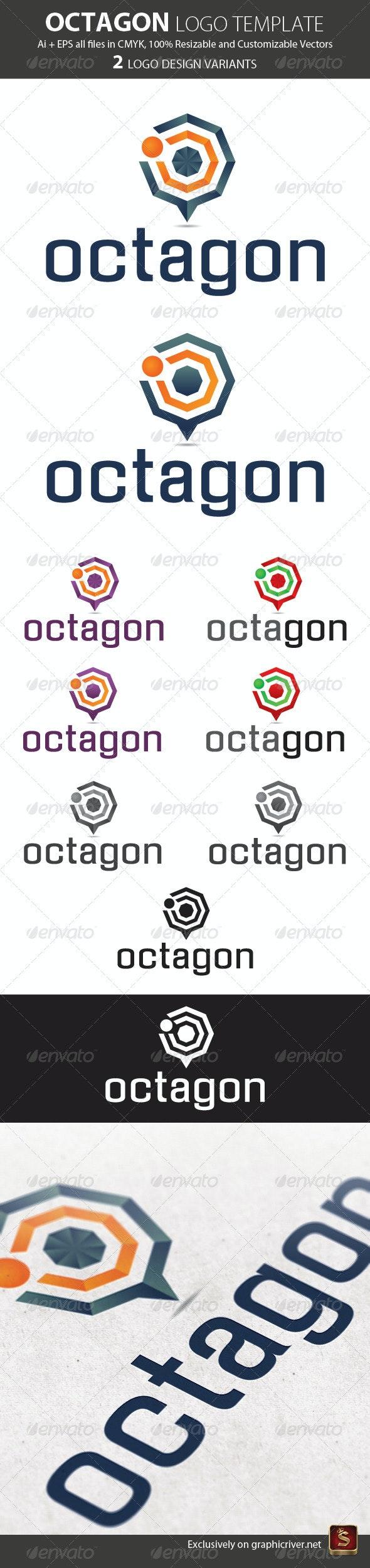Octagon Logo Template - Vector Abstract