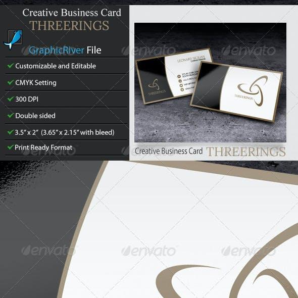 Creative Business Card – ThreeRings.