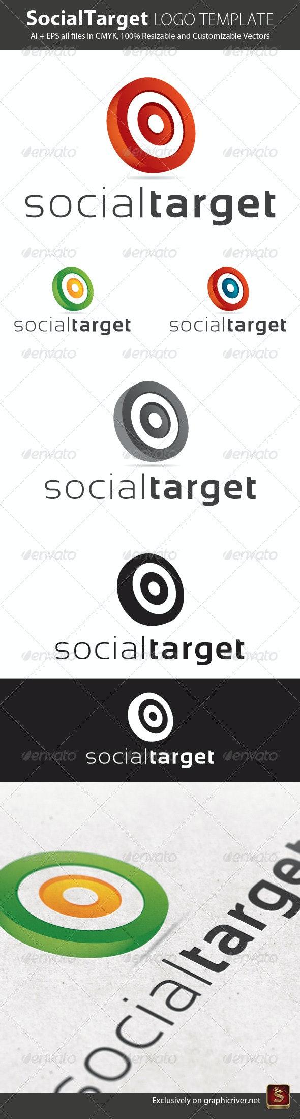 Social Target Logo Template - Vector Abstract