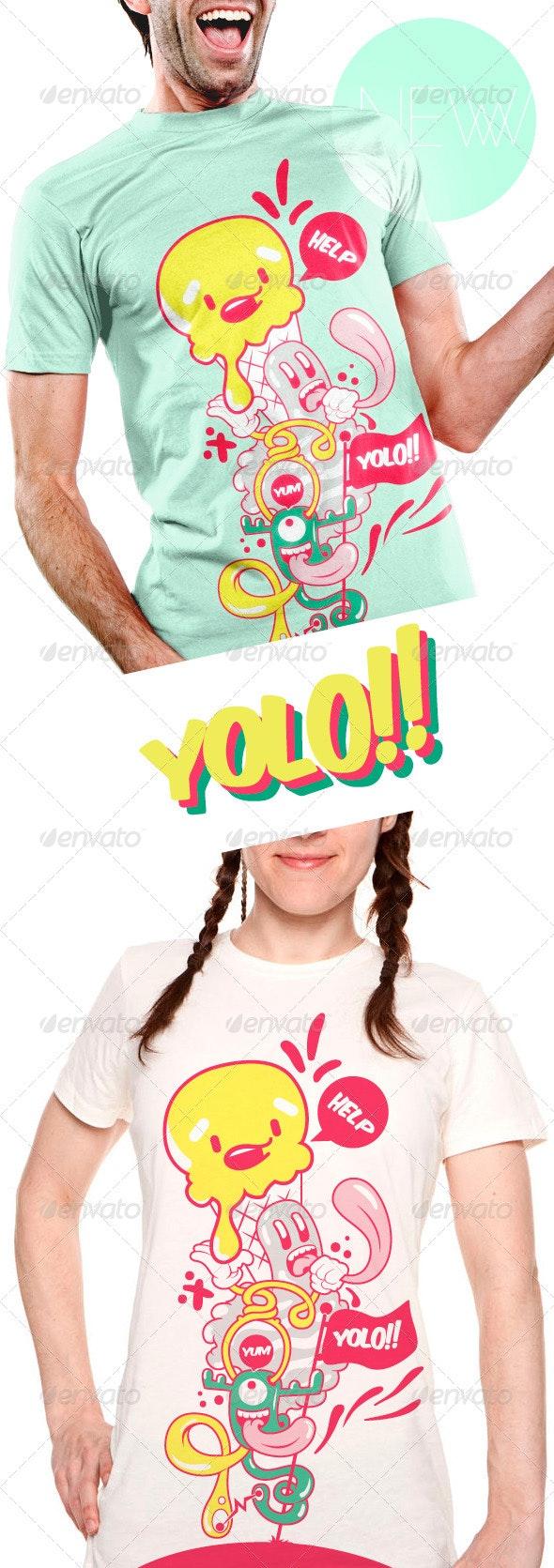 Yolo T-Shirt - Funny Designs
