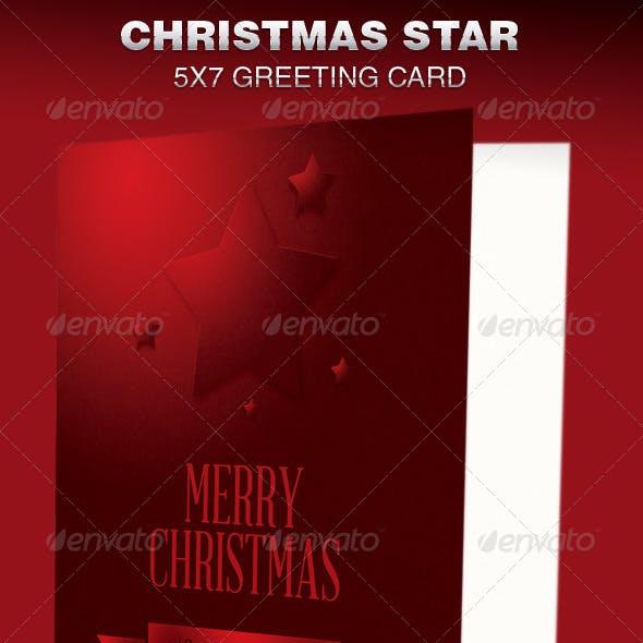 Christmas Star Greeting Card Template
